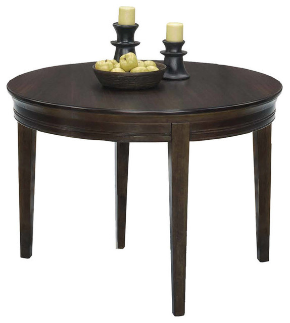 Casual Traditions Walnut Wood Round Dining Table  : traditional dining tables from www.houzz.com size 574 x 640 jpeg 43kB