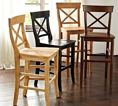 Aaron Barstool Counter Height Rustic Pine Stain