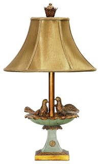 table lamp gold leaf grantsmoth green traditional table lamps. Black Bedroom Furniture Sets. Home Design Ideas