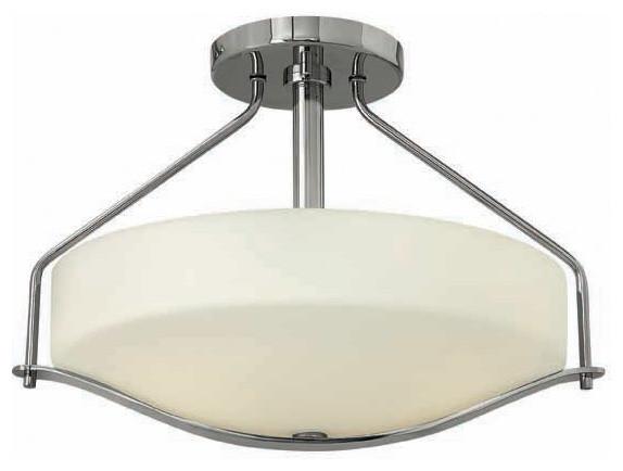 Hinkley Lighting 3821CM Pelham Chrome Semi Flush Mount Farmhouse Flush mo