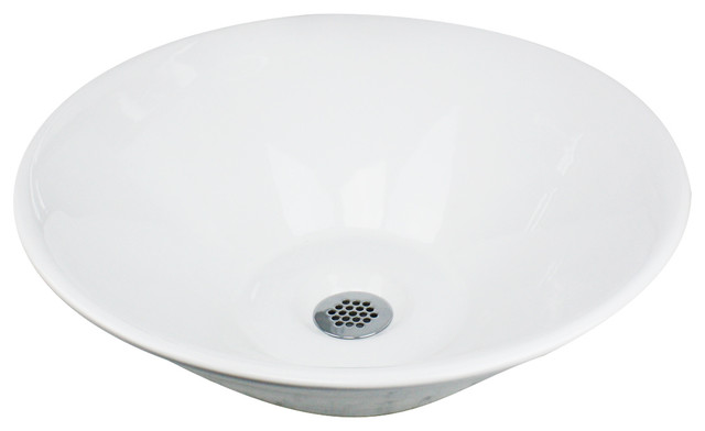 Round Low-Profile Vessel Sink - Bathroom Sinks - by Nantucket Sinks