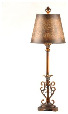 Caramel Swirl Buffet Lamp Traditional Table Lamps By