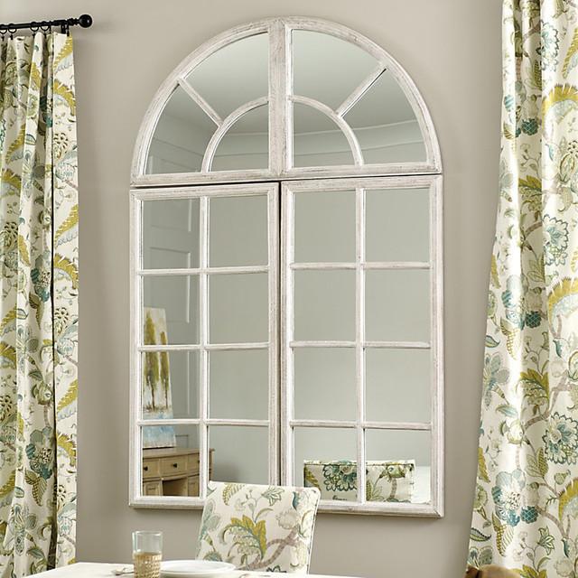 Ballard designs grand chateau 3 piece set window mirror for Window design mirror