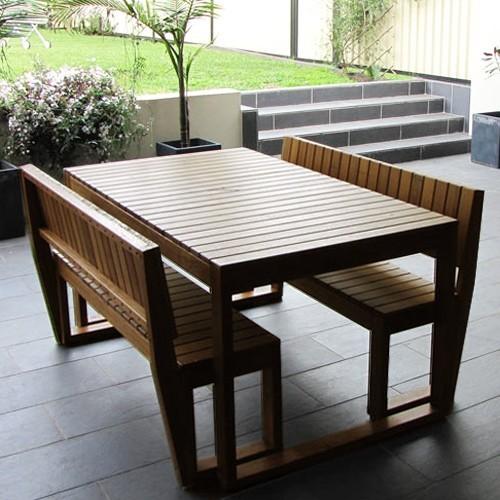 Apollo Bay 4 Seater Outdoor Australian Hardwood 3pc Set