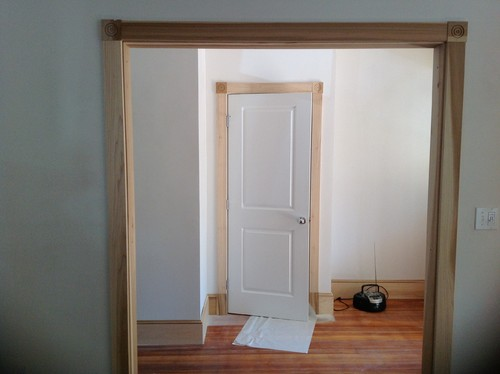 Cant decide whether to stain or paint wood trim for Wood doors with painted trim