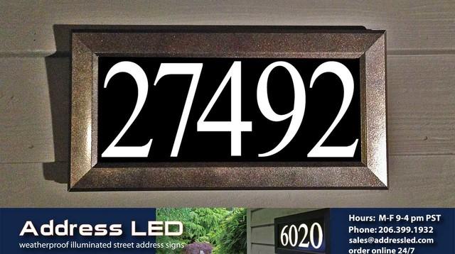 Qt Home Decor Floating Led Address Numbers