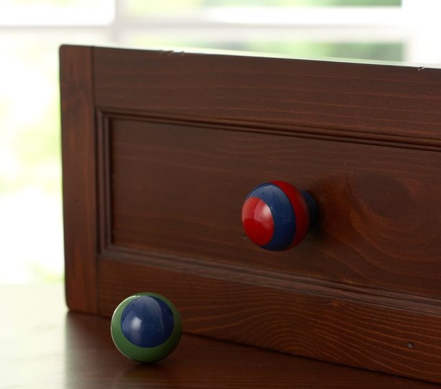 Rugby Stripe Knobs - Eclectic - Cabinet And Drawer Knobs ...