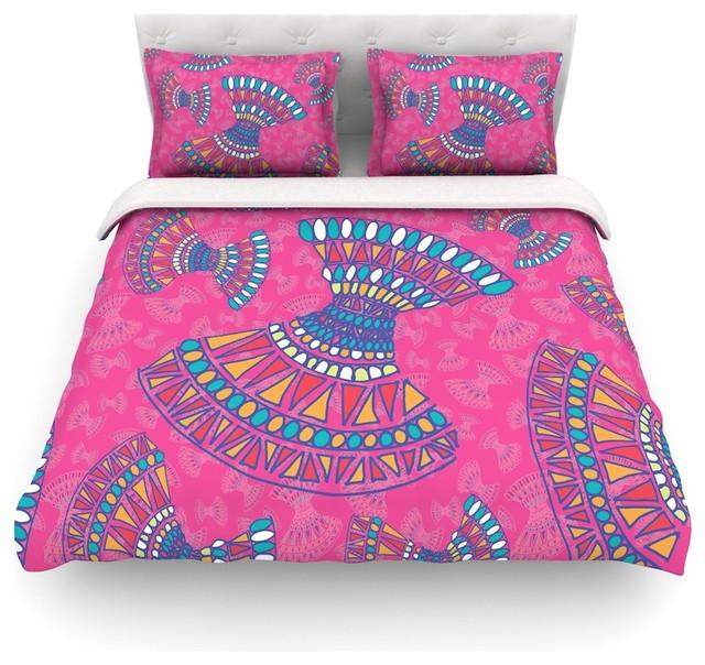 miranda mol tribal fun pink magenta abstract duvet cover cotton twin contemporary duvet. Black Bedroom Furniture Sets. Home Design Ideas