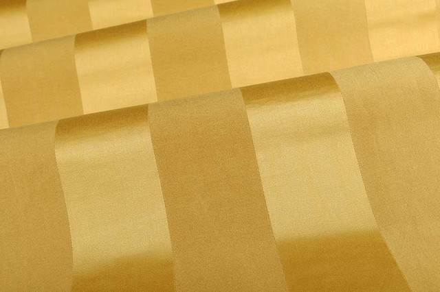Chromatic Stripe Upholstery Fabric in Gold - Traditional ...