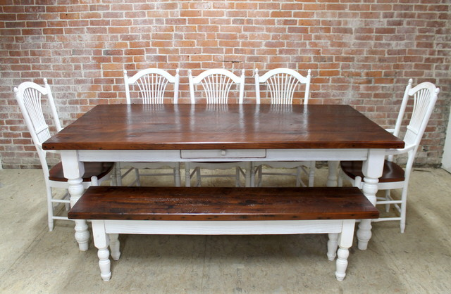 7ft reclaimed farm table by ecustomfinishes farmhouse for 7ft dining room table