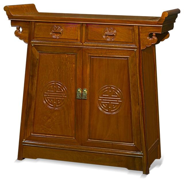 36 rosewood longevity design altar style cabinet asian for Rosewood garden designs