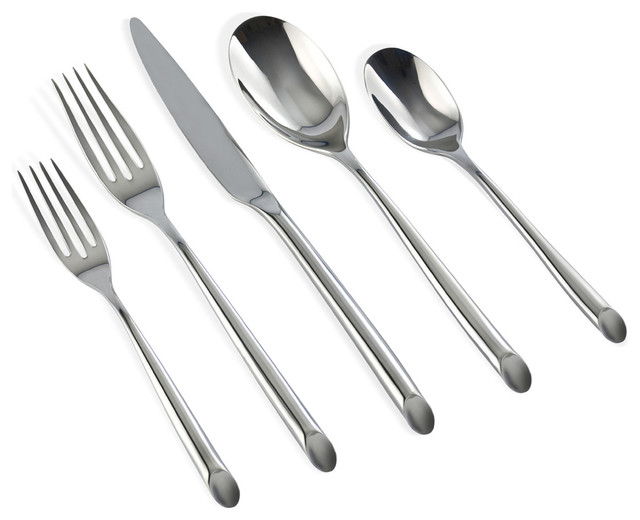 Claudia 20 Piece Flatware Set Modern Flatware And Silverware Sets