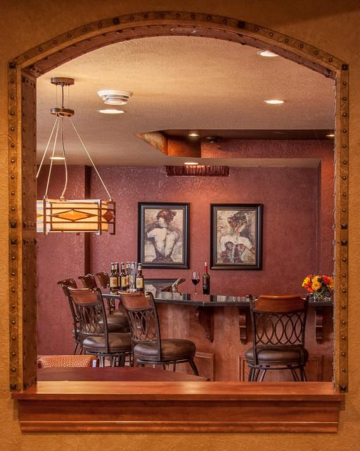 Brookfield transitional basement milwaukee by for Den interior design