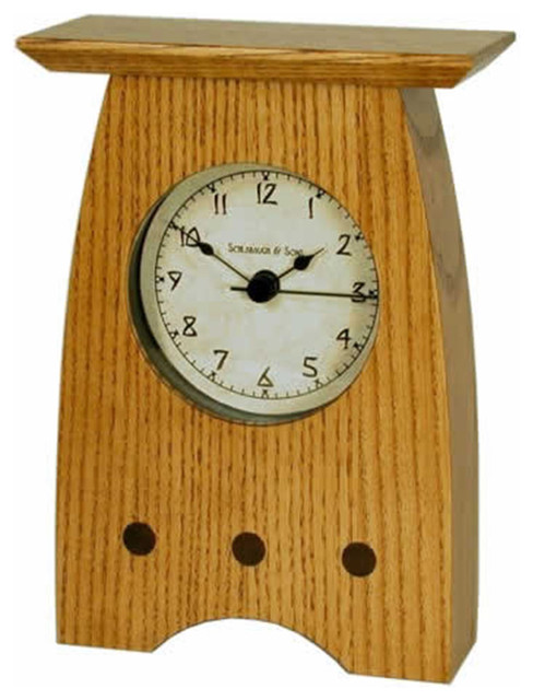 Schlabaugh Amp Sons Arts And Crafts Style 3 Shelf Clock