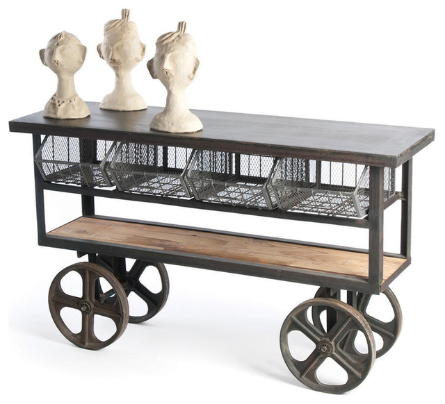photos coffee and accent tables query Swedish Wood Shelving Utility Cart with Wheels
