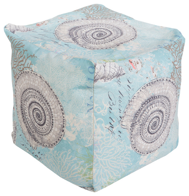 Square Pouf, Teal - Traditional - Floor Pillows And Poufs - by Hollywood Decor