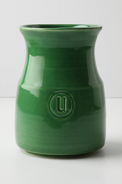 Appellation utensil jar green modern kitchen for Modern kitchen utensil