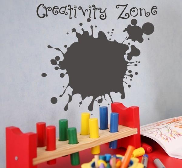 Chalkboard creativity zone wall decal modern wall for Home decor zone