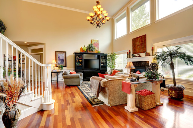 Brazilian Cherry Floors Contemporary Living Room Other By Martinez Wo