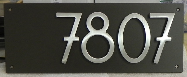 Personalized modern address plaque modern house - House number plaque ideas ...