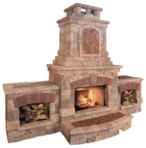 Tuscany Fireplace and Wood Boxes