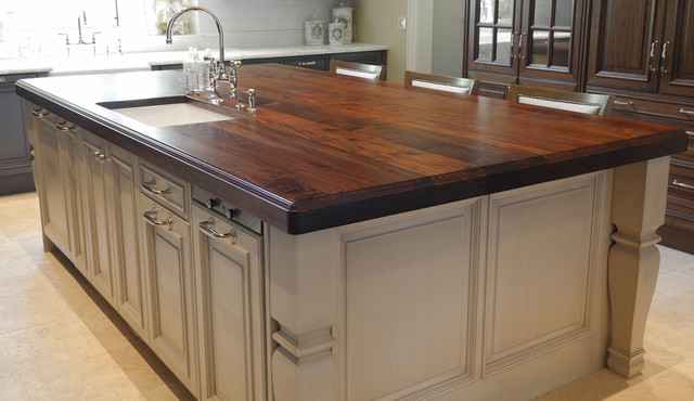 Heritage Wood island in Black Walnut - Modern - Kitchen Countertops - atlanta - by Artisan Group ...