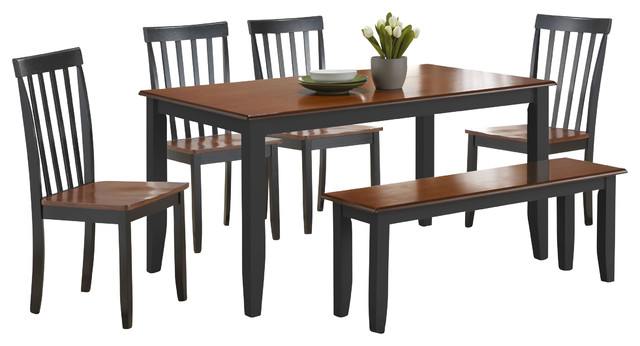 Boraam Bloomington 6 Piece Dining Set in BlackCherry  : modern dining sets from www.houzz.com size 640 x 346 jpeg 47kB