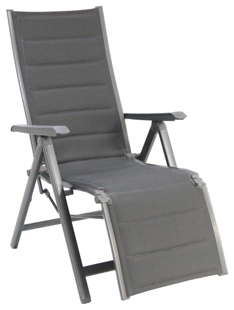 Madrid aluminum zero gravity padded sling gray for Chaise zero gravite