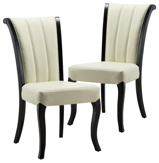 Ceets victoria leather dining chair set of 2 9b103768 for Modern dining chairs under 100