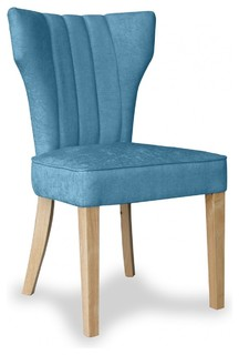 Vindi Teal Fabric Chair Pair By Sherman Contemporary Dining Chairs Ot