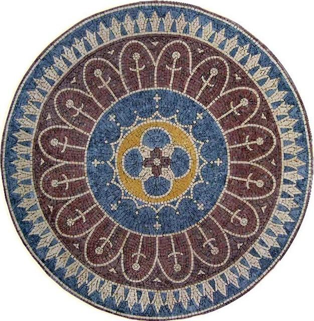 round hand cut marble mosaic sunnyside m diterran en carrelage mosa que par mozaicoart. Black Bedroom Furniture Sets. Home Design Ideas
