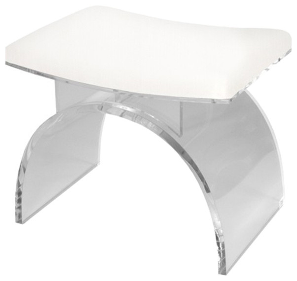 Worlds Away Lucite Arched Stool Base Contemporary Bar