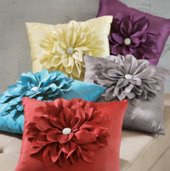 Decorative Jeweled Pillows : Jeweled Flower Throw Pillow - Traditional - Decorative Pillows - by Grandin Road