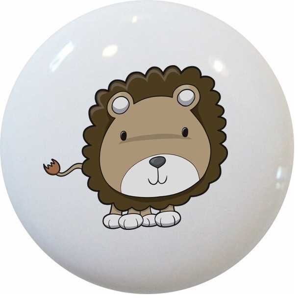 Lion Cub Big Head Ceramic Cabinet Drawer Knob - Cabinet And Drawer Knobs - by Carolina Hardware ...