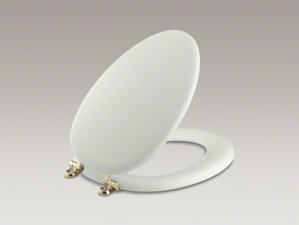 KOHLER Kathryn R Elongated Toilet Seat With Vibrant R French Gold Hinges