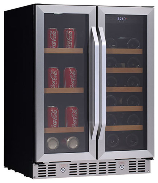 ... Wine and Beverage Cooler with French Doors contemporary-beer-and-wine