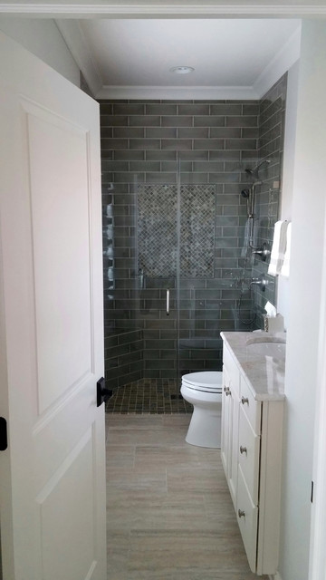Bathroom With Molded Door By Western Building Products In Fontana Wi
