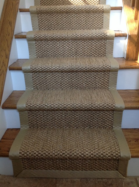 Wide Binding Sisal Runners Beach Style New York By