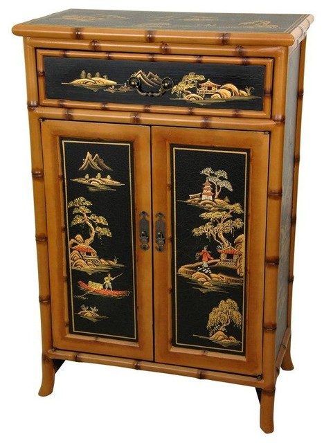 """36"""" Ching Shoe Cabinet - Traditional - Accent Chests And Cabinets - by Oriental Furniture"""