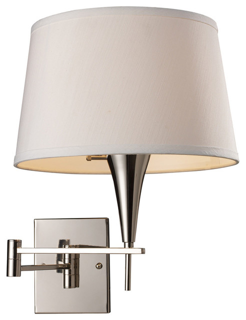 Contemporary Chrome Wall Sconces : Swingarm 1-Light Sconce In Polished Chrome - Contemporary - Wall Sconces - by Rugsnlights