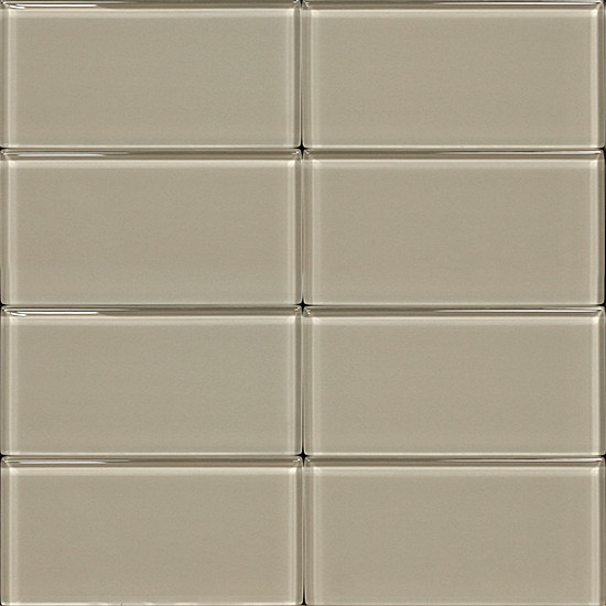 Light Gray Cabinets With White Glazed Subway Tiles: 3x6 Glass Subway Tile Light Gray
