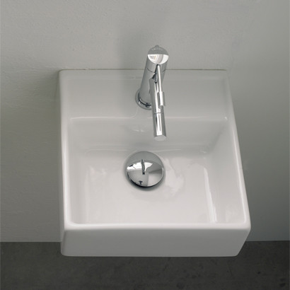 small square wall mounted bathroom sink modern