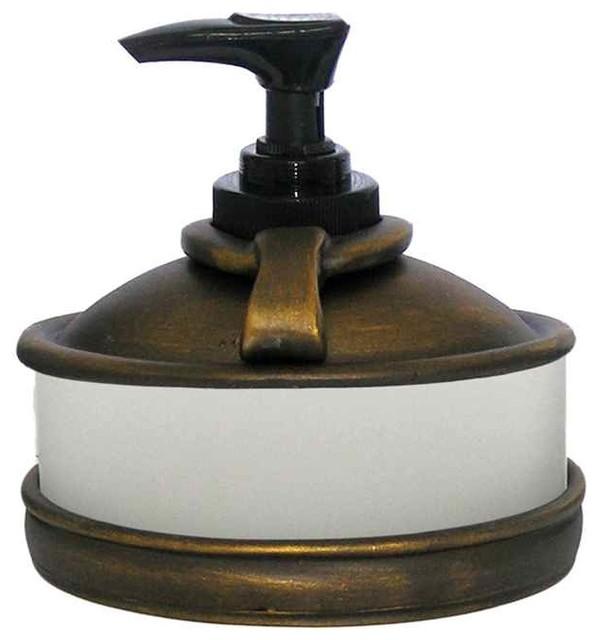 Hammerhein Sm Dispenser Bronze Rubbed Transitional Soap Lotion Dispensers By Shopladder