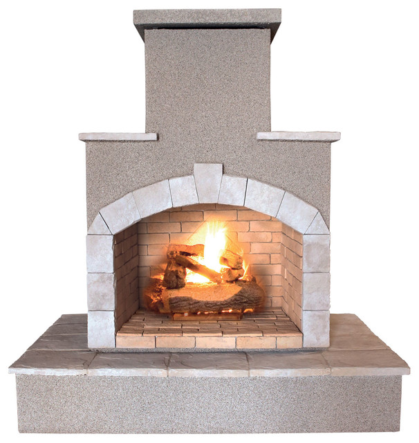 78 Propane Gas Outdoor Fireplace Transitional Outdoor