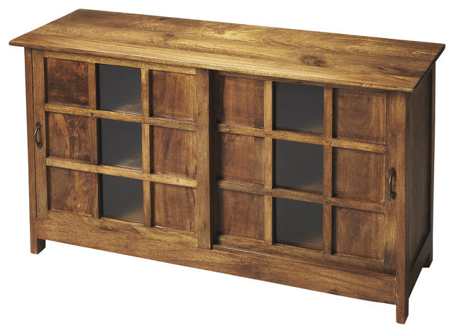 Butler Display Cabinet, Artifacts - Rustic - Display And Wall Shelves - by ShopFreely