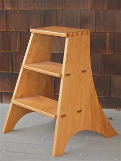 cherry library ladder bauhaus look leitern. Black Bedroom Furniture Sets. Home Design Ideas
