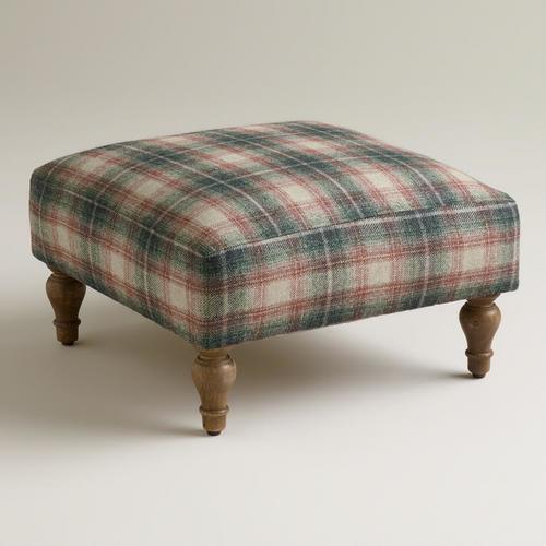 Plaid Hendrik Footstool Traditional Footstools And