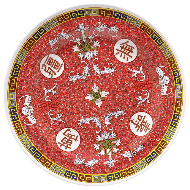 Longevity 6 inch round plate melamine case of 12 asian for Asia asian cuisine richmond hill menu