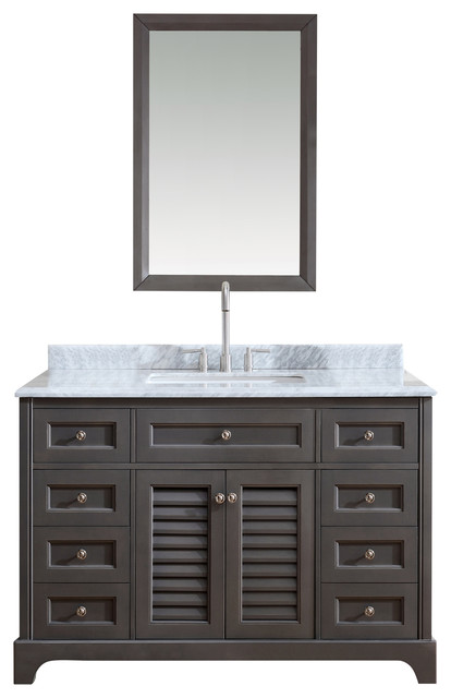 Madison Bathroom Vanity French Gray 48 Beach Style Bathroom Vanities And Sink Consoles