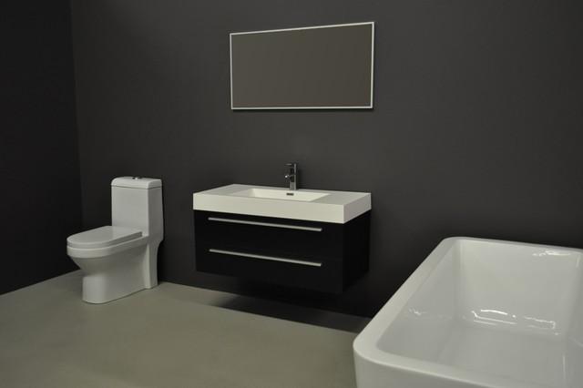 Obsidian modern bathroom vanities and sink consoles for Bathroom consoles and vanities
